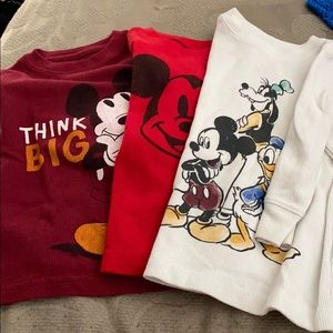 THREE Mickey Mouse thermals 18 months. Long sleeve